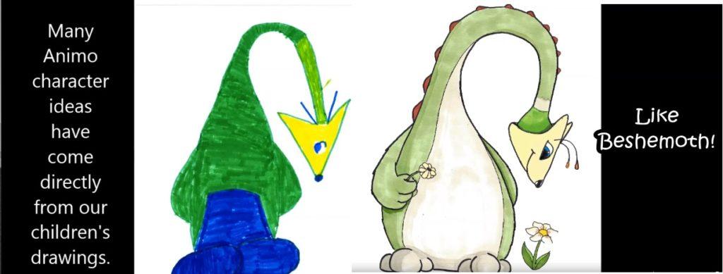 kids animo drawings
