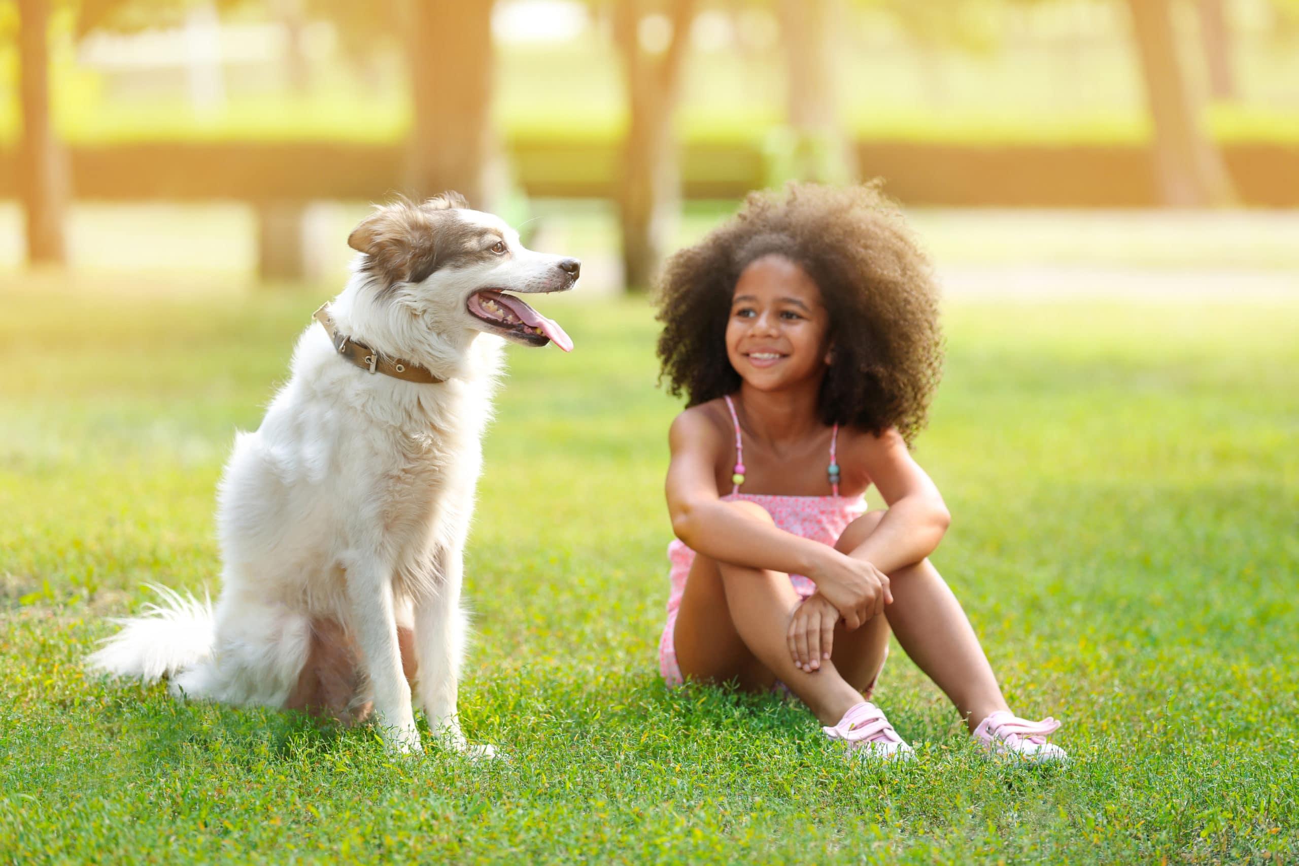 children dog mental health