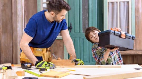 business kid working
